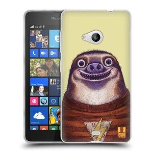Silikonové pouzdro na mobil Microsoft Lumia 535 HEAD CASE ANIMPLA LENOCHOD