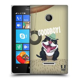 Plastové pouzdro na mobil Microsoft Lumia 435 HEAD CASE Goodboy! Pejsek