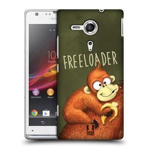Plastové pouzdro na mobil Sony Xperia SP C5303 HEAD CASE Opičák Freeloader