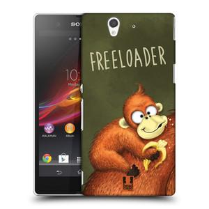 Plastové pouzdro na mobil Sony Xperia Z C6603 HEAD CASE Opičák Freeloader