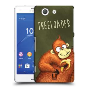Plastové pouzdro na mobil Sony Xperia Z3 Compact D5803 HEAD CASE Opičák Freeloader
