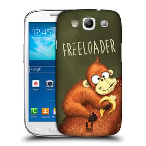 Plastové pouzdro na mobil Samsung Galaxy S III HEAD CASE Opičák Freeloader