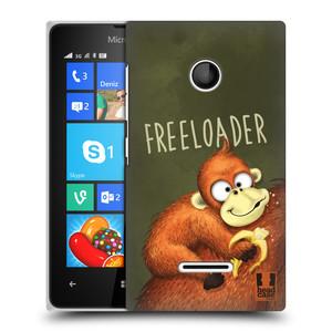 Plastové pouzdro na mobil Microsoft Lumia 435 HEAD CASE Opičák Freeloader