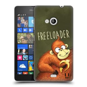 Plastové pouzdro na mobil Microsoft Lumia 535 HEAD CASE Opičák Freeloader
