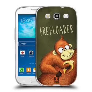 Silikonové pouzdro na mobil Samsung Galaxy S3 Neo HEAD CASE Opičák Freeloader