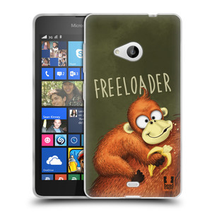 Silikonové pouzdro na mobil Microsoft Lumia 535 HEAD CASE Opičák Freeloader