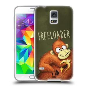 Silikonové pouzdro na mobil Samsung Galaxy S5 Neo HEAD CASE Opičák Freeloader