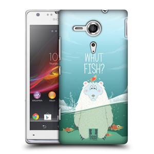 Plastové pouzdro na mobil Sony Xperia SP C5303 HEAD CASE Medvěd Whut Fish?