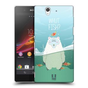 Plastové pouzdro na mobil Sony Xperia Z C6603 HEAD CASE Medvěd Whut Fish?