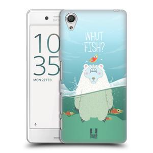 Plastové pouzdro na mobil Sony Xperia X Performance HEAD CASE Medvěd Whut Fish?