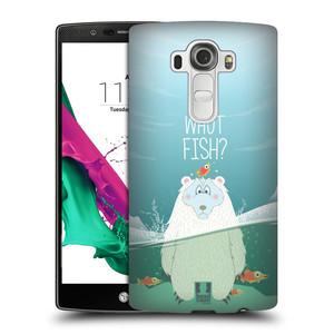 Plastové pouzdro na mobil LG G4 HEAD CASE Medvěd Whut Fish?