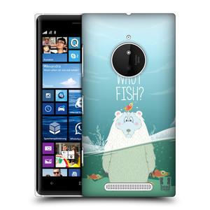 Plastové pouzdro na mobil Nokia Lumia 830 HEAD CASE Medvěd Whut Fish?