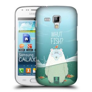 Plastové pouzdro na mobil Samsung Galaxy S Duos 2 HEAD CASE Medvěd Whut Fish?