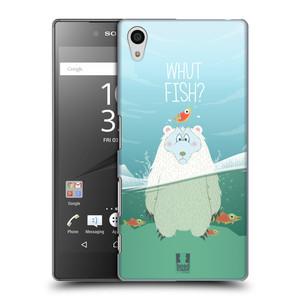 Plastové pouzdro na mobil Sony Xperia Z5 HEAD CASE Medvěd Whut Fish?