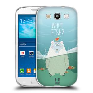 Silikonové pouzdro na mobil Samsung Galaxy S III HEAD CASE Medvěd Whut Fish?