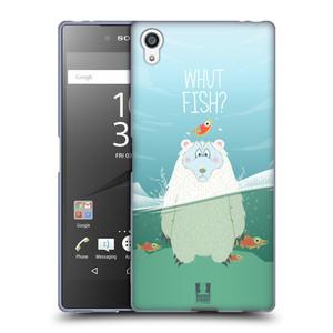 Silikonové pouzdro na mobil Sony Xperia Z5 Premium HEAD CASE Medvěd Whut Fish?