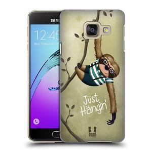 Plastové pouzdro na mobil Samsung Galaxy A3 (2016) HEAD CASE Lenochod Just Hangin