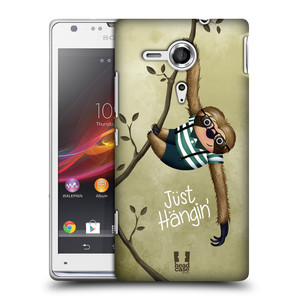 Plastové pouzdro na mobil Sony Xperia SP C5303 HEAD CASE Lenochod Just Hangin