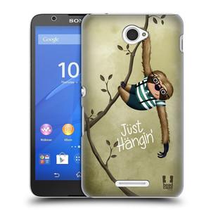 Plastové pouzdro na mobil Sony Xperia E4 E2105 HEAD CASE Lenochod Just Hangin