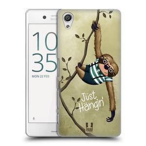 Plastové pouzdro na mobil Sony Xperia X Performance HEAD CASE Lenochod Just Hangin