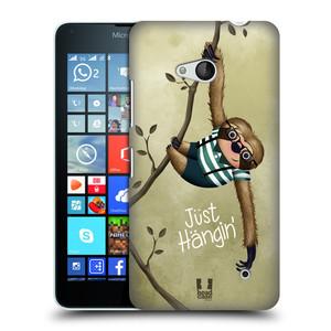 Plastové pouzdro na mobil Microsoft Lumia 640 HEAD CASE Lenochod Just Hangin