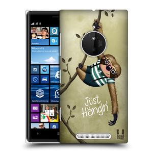 Plastové pouzdro na mobil Nokia Lumia 830 HEAD CASE Lenochod Just Hangin