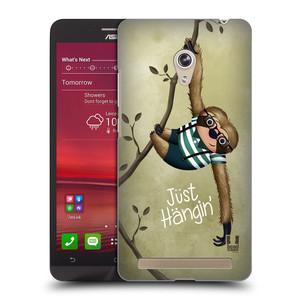 Plastové pouzdro na mobil Asus Zenfone 6 HEAD CASE Lenochod Just Hangin