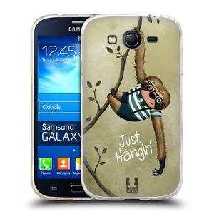 Silikonové pouzdro na mobil Samsung Galaxy Grand Neo Plus HEAD CASE Lenochod Just Hangin