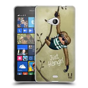 Silikonové pouzdro na mobil Microsoft Lumia 535 HEAD CASE Lenochod Just Hangin