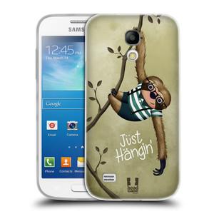 Silikonové pouzdro na mobil Samsung Galaxy S4 Mini VE HEAD CASE Lenochod Just Hangin