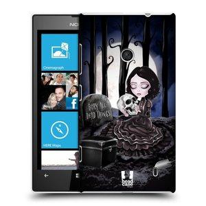 Plastové pouzdro na mobil Nokia Lumia 520 HEAD CASE MACABRE HŘBITOV
