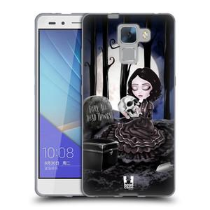 Silikonové pouzdro na mobil Honor 7 HEAD CASE MACABRE HŘBITOV