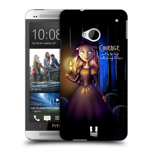 Plastové pouzdro na mobil HTC ONE M7 HEAD CASE MACABRE COURAGE