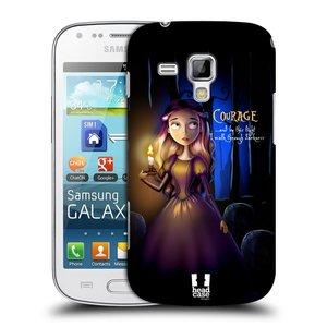 Plastové pouzdro na mobil Samsung Galaxy S Duos 2 HEAD CASE MACABRE COURAGE