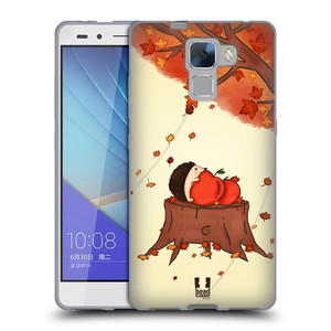 Silikonové pouzdro na mobil Honor 7 HEAD CASE PODZIMNÍ JEŽEK