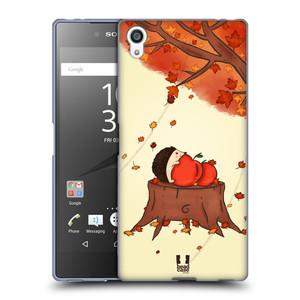 Silikonové pouzdro na mobil Sony Xperia Z5 Premium HEAD CASE PODZIMNÍ JEŽEK