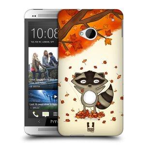 Plastové pouzdro na mobil HTC ONE M7 HEAD CASE PODZIMNÍ MÝVAL