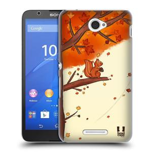 Plastové pouzdro na mobil Sony Xperia E4 E2105 HEAD CASE PODZIMNÍ VEVERKA