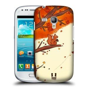 Plastové pouzdro na mobil Samsung Galaxy S III Mini HEAD CASE PODZIMNÍ VEVERKA