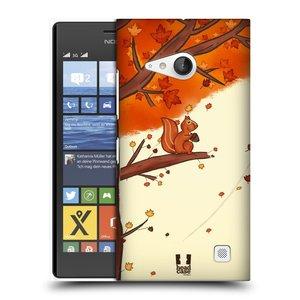 Plastové pouzdro na mobil Nokia Lumia 735 HEAD CASE PODZIMNÍ VEVERKA