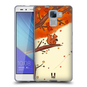 Silikonové pouzdro na mobil Honor 7 HEAD CASE PODZIMNÍ VEVERKA