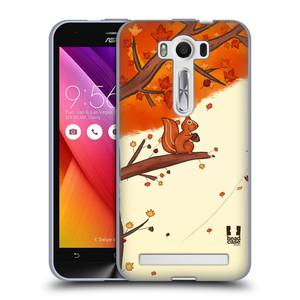 Silikonové pouzdro na mobil Asus ZenFone 2 Laser ZE500KL HEAD CASE PODZIMNÍ VEVERKA