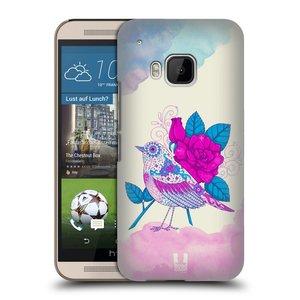 Plastové pouzdro na mobil HTC ONE M9 HEAD CASE PTÁČEK FUCHSIA