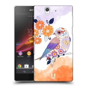 Plastové pouzdro na mobil Sony Xperia Z C6603 HEAD CASE PTÁČEK TANGERINE