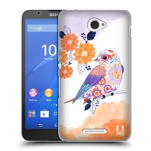 Plastové pouzdro na mobil Sony Xperia E4 E2105 HEAD CASE PTÁČEK TANGERINE