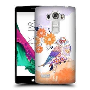 Plastové pouzdro na mobil LG G4s HEAD CASE PTÁČEK TANGERINE