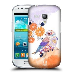 Plastové pouzdro na mobil Samsung Galaxy S3 Mini VE HEAD CASE PTÁČEK TANGERINE
