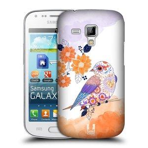 Plastové pouzdro na mobil Samsung Galaxy S Duos 2 HEAD CASE PTÁČEK TANGERINE