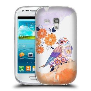 Silikonové pouzdro na mobil Samsung Galaxy S III Mini HEAD CASE PTÁČEK TANGERINE