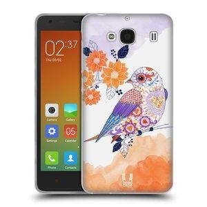 Silikonové pouzdro na mobil Xiaomi Redmi 2 HEAD CASE PTÁČEK TANGERINE